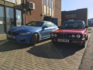 BMW F82 M4 swapped for E28 M5 - Old School MPower